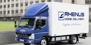 electric truck rhenus logistics testing fuso electric truck post u0026parcel