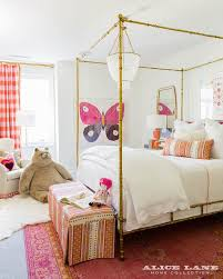 Pink Canopy Bed Gold Leaf Canopy Bed With Pink And Red Rug Contemporary Girl U0027s