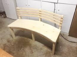Curved Bench With Back Curved Bench With Back