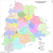 Hyderabad India Map by Telangana Map Officially Redrawn Adding 21 New Districts