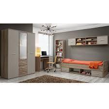 chambre complete enfants chambre complète enfant 5p dino iv chêne blanc