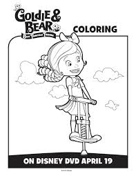 disney junior goldie bear coloring pages u0026 activity sheets