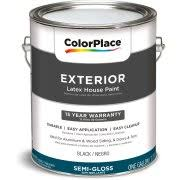 Black Exterior Gloss Paint - colorplace exterior paint black semi gloss finish 1 gallon