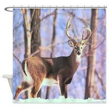 Whitetail Deer Shower Curtain Winston T Curtain Collection On Ebay