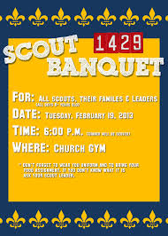 boy scout or cub scout invitation card 5x7 psd template