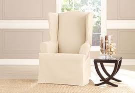 sure fit slipcovers wing chair wingchair slipcovers sure fit home decor