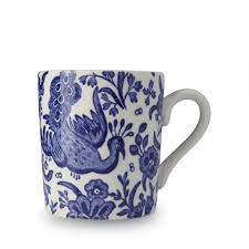 Peacock Mug Blue Regal Peacock U2013 Burleigh Pottery