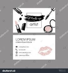 makeup artist business card vector template stock vector 583317682