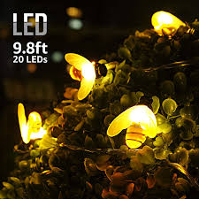 Battery String Lights With Timer by Torchstar 9 8ft 20 Leds Bee Shape String Lights Battery Powered