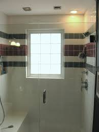 Windows In Bathroom Showers Bathroom Windows Design Simple Yet Glass Block Civilfloor