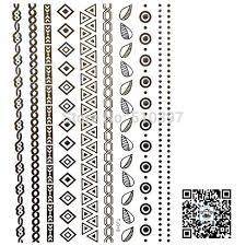 chain bracelet tattoo images 1pc lot tj018 shimmer temporary tatoo bracelet strip chain jewelry jpg