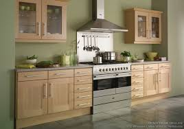 Kitchen Colour Design Ideas Shaker Beech Kitchen With Soft Green Walls Britannialiving Co Uk