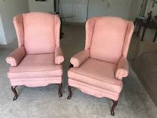 Queen Anne Wingback Chair Queen Anne Wingback Chair Antique Furniture Ebay