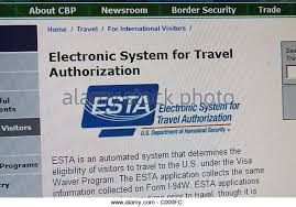 Kansas electronic system for travel authorization images Entry visa stock photos entry visa stock images alamy jpg