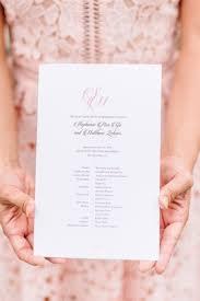 simple wedding ceremony program church ceremony sparkling pink ballroom reception with city