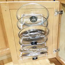 Sellers Kitchen Cabinet Amazon Com Evelots Cabinet Door Lid Rack Holds 6 Pan Covers