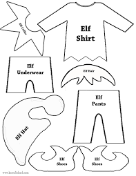 elf clothes and parts template christmas pinterest elves