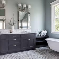 Painted Bathroom Cabinet Ideas Painted Bathroom Pale Grey Blue Grey Vanity Bathrooms