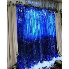 m礬tallique clinquant d aluminium frange rideau porte pluie