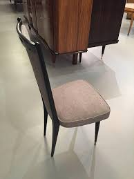 french art deco black lacquer dining chairs set of six u2013 1 of a