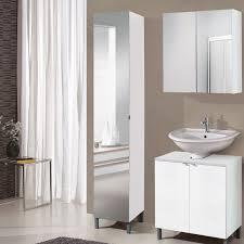 Floor Standing Mirrored Bathroom Cabinet Belfry Bathroom Milan 32 X 182cm Mirrored Free Standing Tall