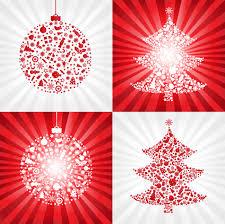 red christmas ball with christmas tree vector free vector 4vector