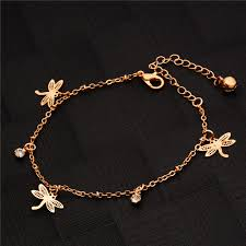 simple gold bracelet jewelry images Buy shuangr simple gold color anklet chains foot jpg