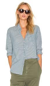 lotan earrings nili lotan nl shirt in indigo ivory stripe revolve