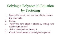 other types of equations solving a polynomial equation by