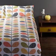 Midcentury Modern Bedding - orla kiely scribble stem duvet cover set queen amazon co uk