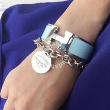 bracelet tag tiffany images Authentic tiffany co round tag bracelet gelang watches jpg