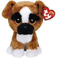 ty beanie boo buddy brutus dog soft toy entertainer