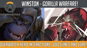 Gorilla Warfare Meme - overwatch winston gorilla warfare hero voice lines