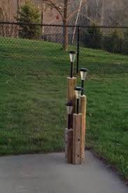 Outdoor Solar Lights For Fence Landscape Timbers Cut And Solar Lights Put Into Drilled Holes For
