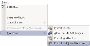 excel track changes protecting the change history