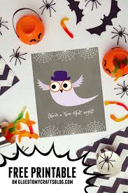 have a boo tiful night free printable glued to my crafts