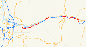 Oregon Waterfalls Map by Historic Columbia River Highway Wikipedia