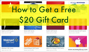 free gift cards online how to get a free 20 walmart gift card s busy go ask