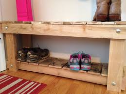 Small Bench With Shoe Storage by 30 Pallet Shoe Rack Ideas To Suit Different Tastes Patterns Hub