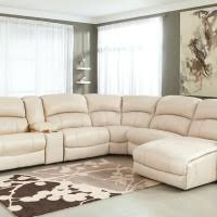 Sectional Reclining Sofa With Chaise Dark Brown Reclining Sofa With Chaise And Striped Pattern Rug