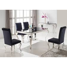 Black Velvet Dining Room Chairs by Dining Room Smart Black Enchanting Black And Silver Dining Room