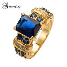 aliexpress buy 2017 new arrival mens ring fashion aliexpress buy bamos 2017 new blue geometric ring
