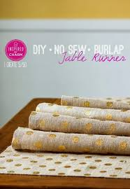 table runner or placemats diy burlap table runner or placemats with gold dots via crafty