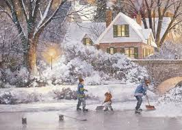 personalized boxed christmas cards shoveling box of 25 personalized d r laird hockey christmas