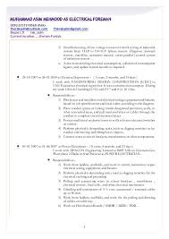 sample resume electrical engineering technologist professional