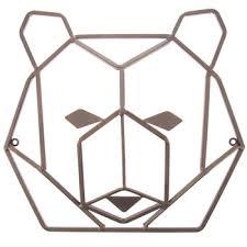 Ribbon Metal Wall Decor Rust Geometric Bear Head Metal Wall Decor Hobby Lobby 1280866