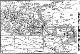 Boston Rail Map by The Canadian National Railway