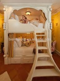 French Style In White Kids Wooden Bunk BedDream House Princess - Dreams bunk beds