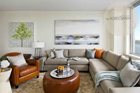 fancy curved sectional sofa with thick backres casual living room