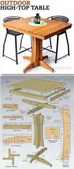 high top table plans outdoor high top table plans outdoor furniture plans projects